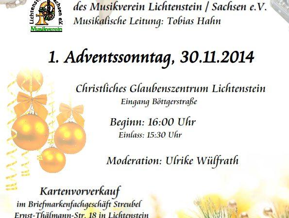 Weihnachtskonzert 2014 Lichtenstein