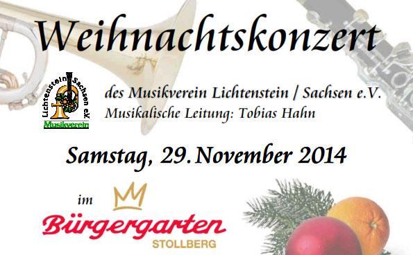 Weihnachtskonzert Bürgergarten 2014