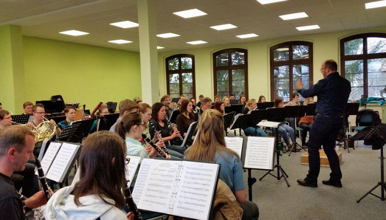 Lichtensteiner Musikverein Vorbereitung Jubiläumskonzert 2016
