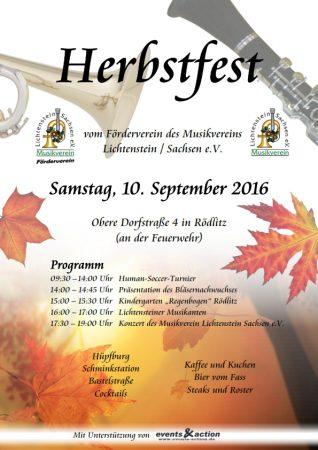 Herbstfest 2016 Musikverein Lichtenstein