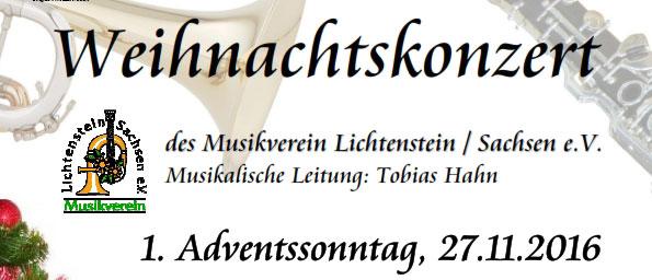Weihnachtskonzert 2016 Lichtenstein