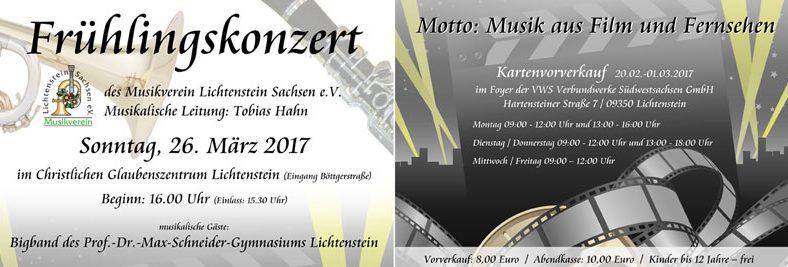 Frühlingskonzert 2017 Musikverein Lichtenstein