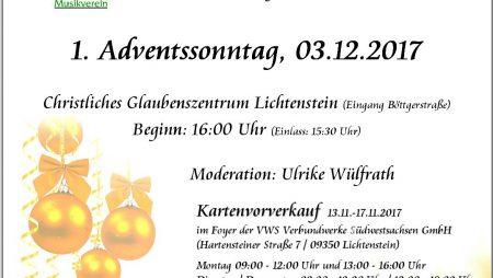 Weihnachtskonzert 2017 Musikverein Lichtenstein