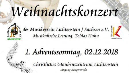 Weihnachtskonzert 2018 Musikverein Lichtenstein