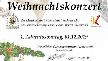 Weihnachtskonzert 2019 Musikverein Lichtenstein